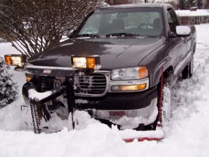 snow plowing in Bloomfield Hills Mi.